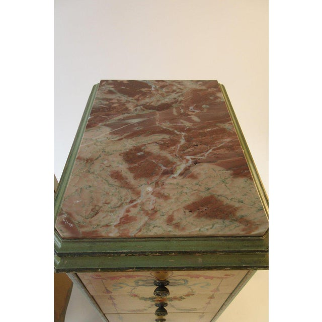 Pair of Tall 1920s Marble-Top Adams Style Side Tables For Sale - Image 12 of 13