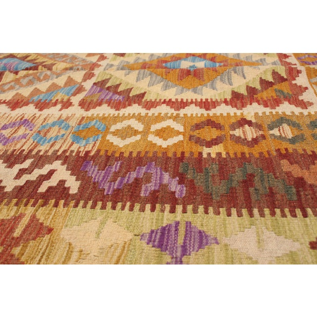 "Textile Turkish Kilim, 5'5"" X 8'5"" For Sale - Image 7 of 9"
