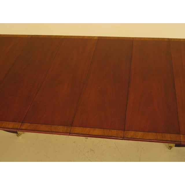 Kindel Banded Border Duncan Phyfe Mahogany Dining Table For Sale - Image 11 of 13