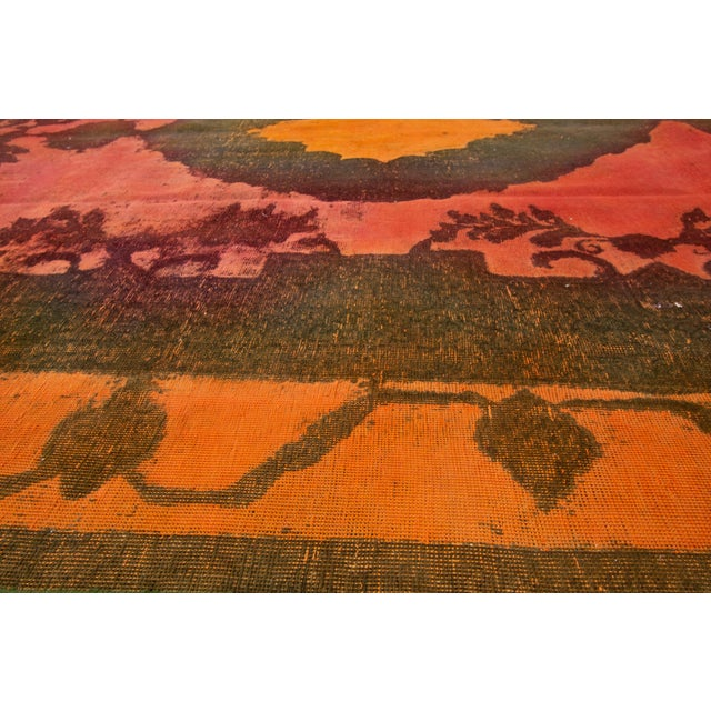 "Apadana - Vintage Overdyed Rug, 9'4"" X 12'6"" For Sale In New York - Image 6 of 7"