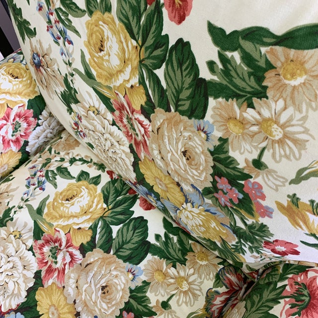 English Traditional Floral Club Chair - New Upholstery (Vintage Fabric) For Sale - Image 3 of 13