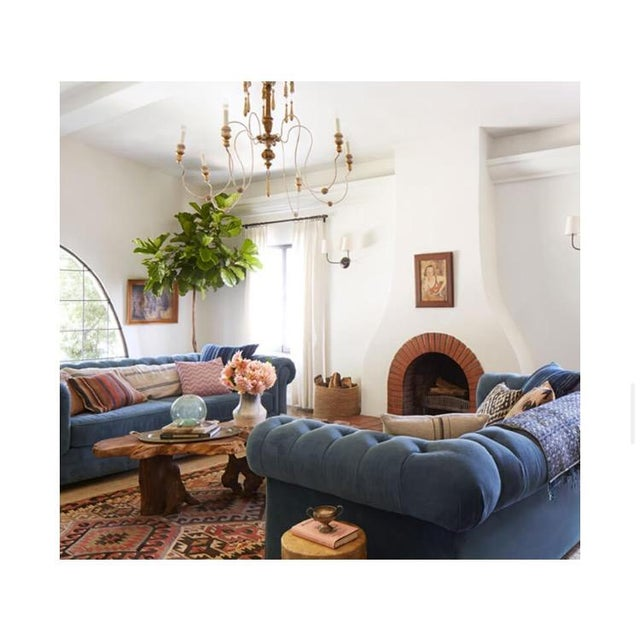 Blue Chesterfield Sofas - A Pair - Image 8 of 8