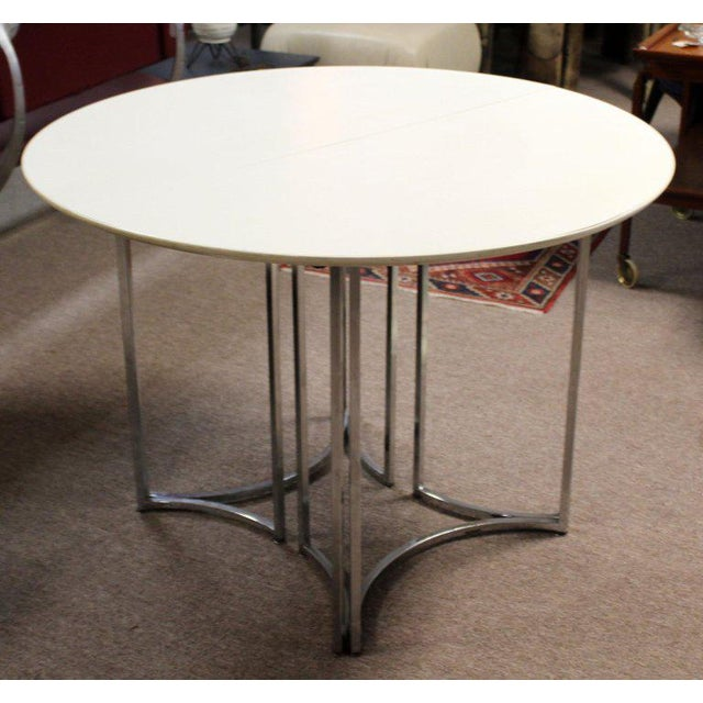 Late 20th Century 1970s Mid-Century Modern Daystrom Chrome Wood Laminate Dinette Set For Sale - Image 5 of 13