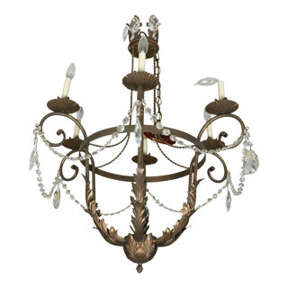 Neoclassical Style Six Light Chandelier For Sale