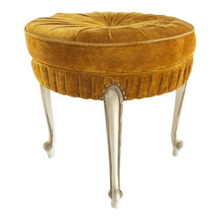 Hollywood Regency Round Vanity Stool For Sale