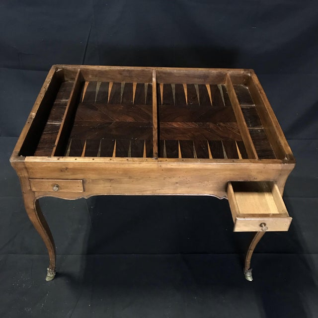 19th Century Antique Walnut Game or Side Table For Sale - Image 11 of 12