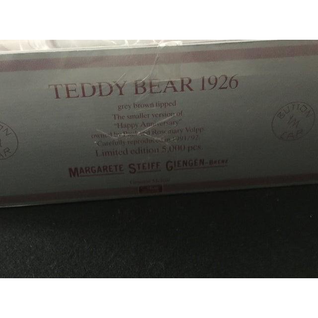 "Antique Steiff Teddy Bear - Replica, 1926 ""Happy Anniversary"" Teddy Bear For Sale - Image 11 of 12"