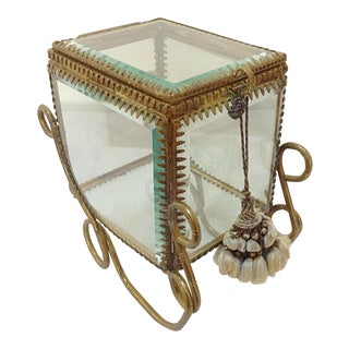 Antique Glass Carriage Display Case For Sale