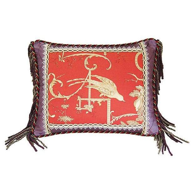 Custom Brunschwig & Fils Kininvie Toile Pillow - Image 1 of 6