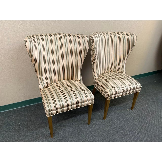 Late 20th Century Custom Design Side Chairs - a Pair For Sale In San Francisco - Image 6 of 12