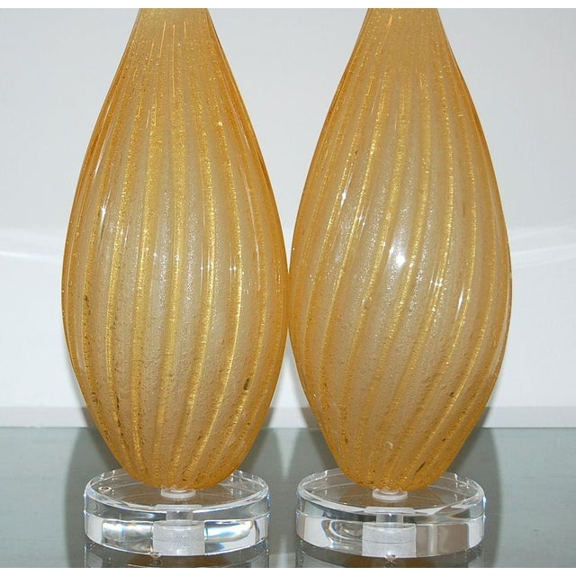 Murano Vintage Murano Glass Table Lamps Gold For Sale - Image 4 of 8