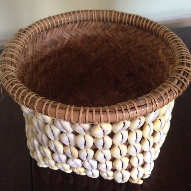 Vintage Woven Shell Basket - Image 4 of 11