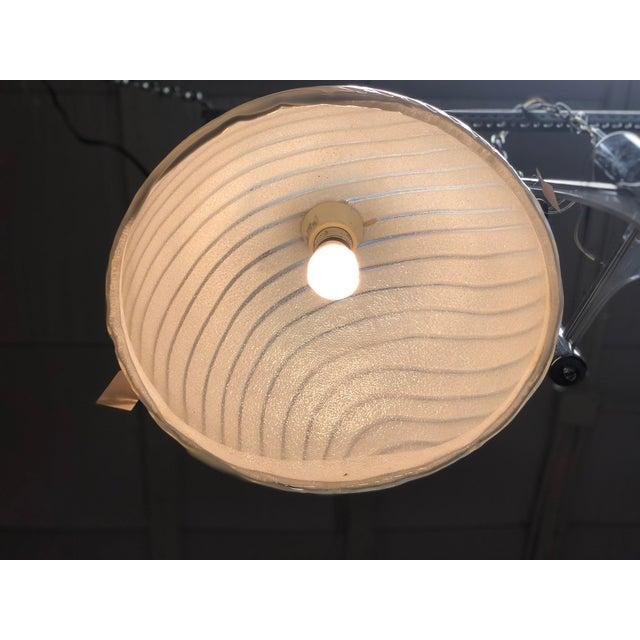 Art Deco Vetri Murano Mid-Century Dome Pendant Light For Sale - Image 3 of 7
