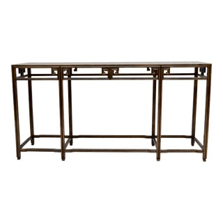 "Baker Burlwood Console Table, ""Far East"" Collection"" For Sale"