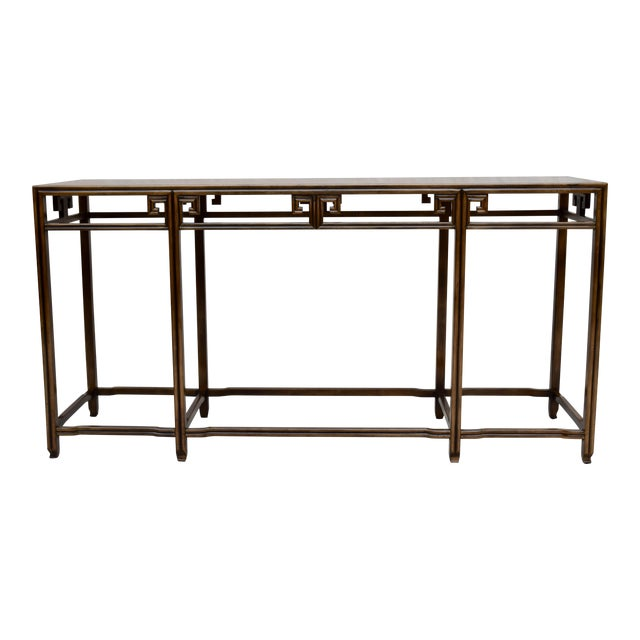 """Baker Burlwood Console Table, """"Far East"""" Collection"""" For Sale"""