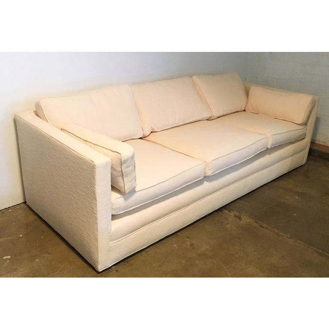 Knoll Tuxedo Linen Sofa - Image 7 of 10