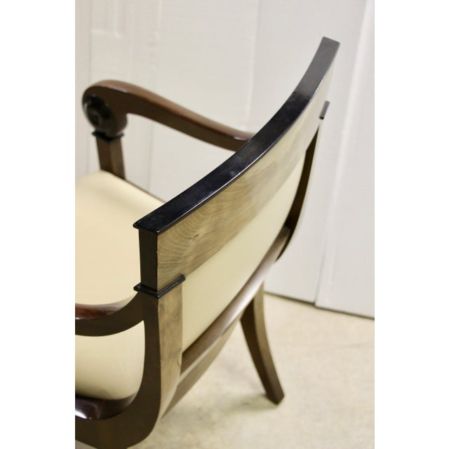 Regency-Style Scroll Arm Chair For Sale In Richmond - Image 6 of 9