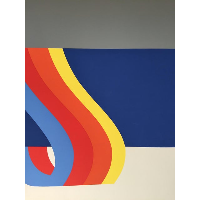 Paper Nadine Pardo 1972 Abstract Silkscreen For Sale - Image 7 of 9