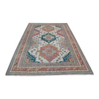1960s Vintage Turkish Hand-Knotted Rug - 6′2″ × 9′3″ For Sale
