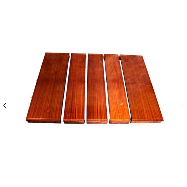 Sheraton Style Inlaid Dining Table With Five Leaves - Image 9 of 10