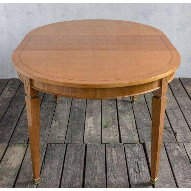 French 1940s Oval Dining Table For Sale - Image 9 of 11