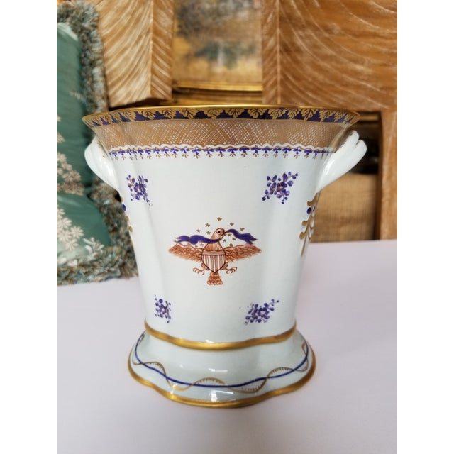 Chinese Export Style Vase by Mottahedeh For Sale - Image 9 of 11