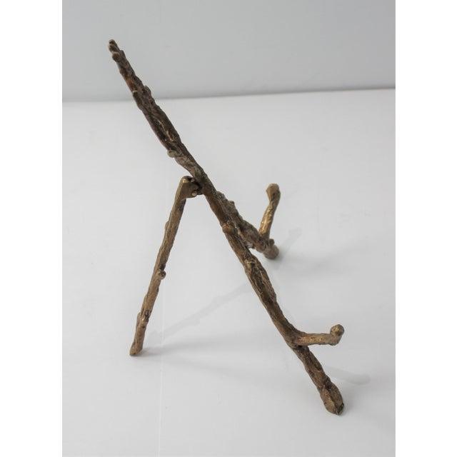 Vintage Tabletop Easel Bronze Twig Motif For Sale - Image 9 of 13