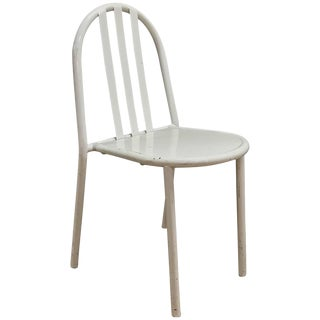 White Robert Mallet-Stevens Model No.222 Chair Bauhaus French Stacking For Sale
