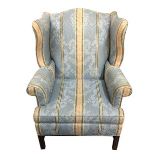 Hickory Chair Traditional Upholstered Wingback Chair For Sale