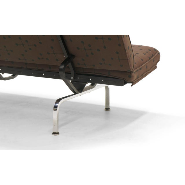 Gray Charles and Ray Eames Sofa Compact for Herman Miller in Eames Dot Pattern Fabric For Sale - Image 8 of 10