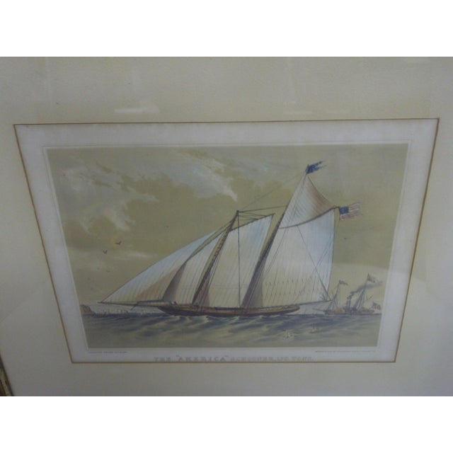 Traditional The American Schooner Print, 1850 For Sale - Image 3 of 8