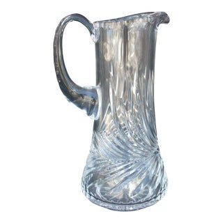 Swirl Pattern Crystal Pitcher For Sale