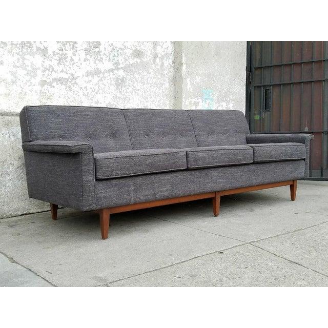 Gray Mid-Century Style Sofa - Image 6 of 7