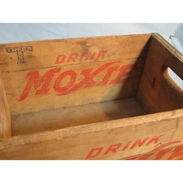 Wood 1956 Moxie Drink Wood Crate Box For Sale - Image 7 of 10