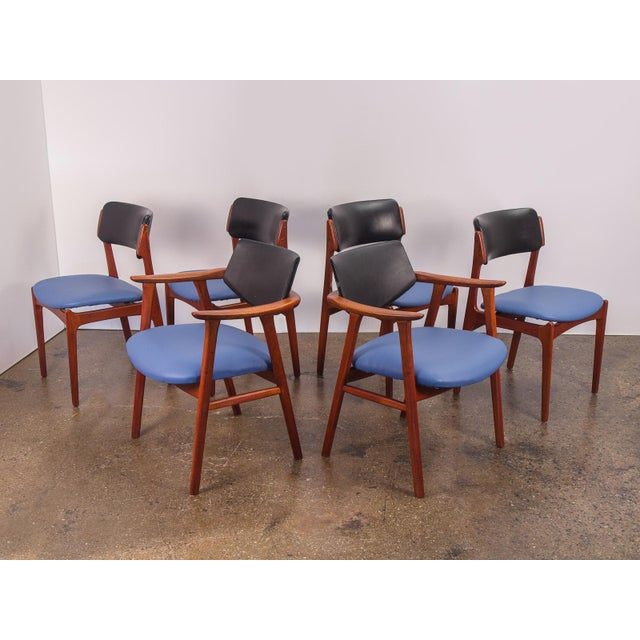Set of 6 Erik Buck Style Teak Dining Chairs - Image 2 of 11