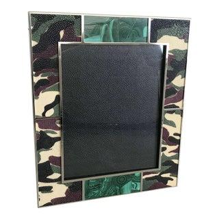 Camoflauge Shagreen Photo Frame For Sale