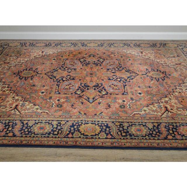Textile Karastan Heriz Serapi 9 X 12 Room Size Rug # 726 For Sale - Image 7 of 13