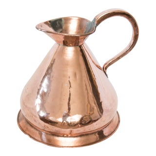 Large Antique English Copper 4 Gallon Haystack Pitcher Jug For Sale