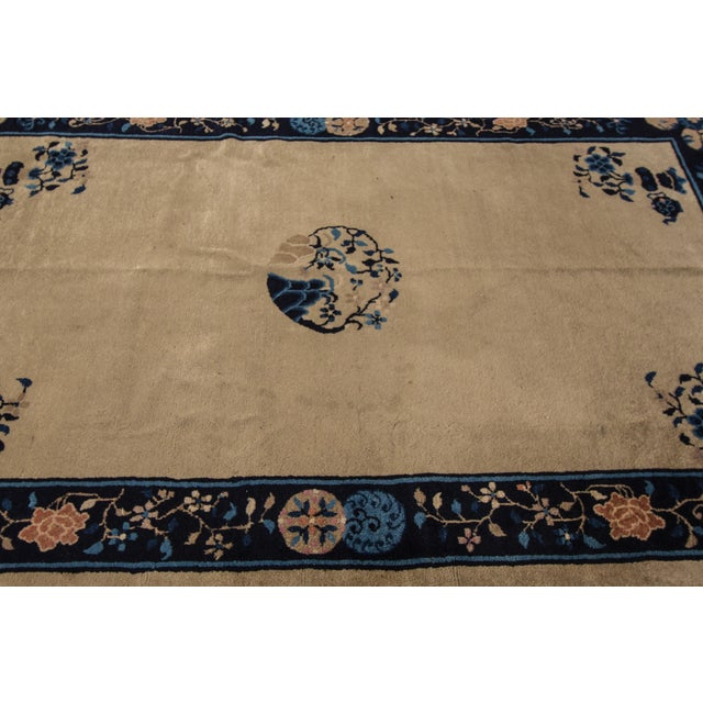 "Asian Apadana Antique Chinese Deco Rug - 5' x 7'10"" For Sale - Image 3 of 7"
