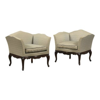 French Bergere Armchairs- A Pair