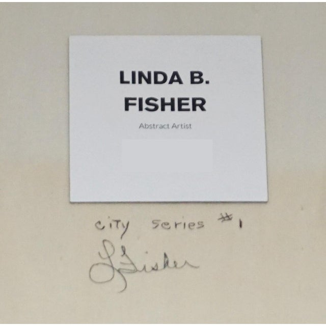 """Linda B. Fisher's """"City Series #1"""" For Sale - Image 4 of 5"""