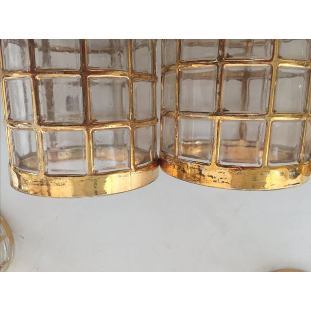 Imperial Glass Toril De Oro Gold 15 Highball Drinks Glasses For Sale - Image 5 of 11