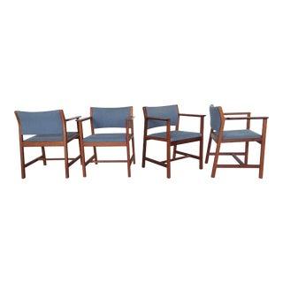 Borge Mogensen Mahogany Chairs - Set of 4