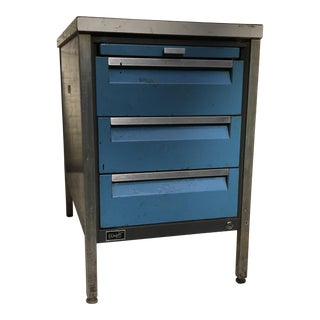 Wright Line Industrial Cabinet Table For Sale