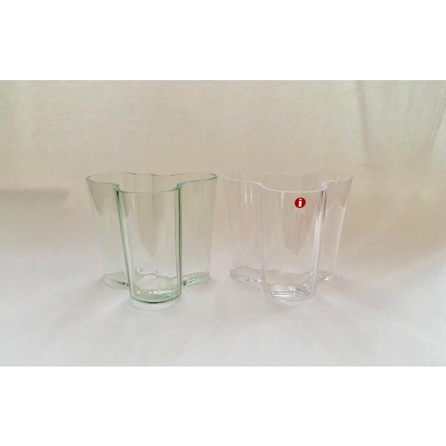 Iittala AlvarAalto Savoy Wave Modernist Vases - a Pair For Sale - Image 9 of 9