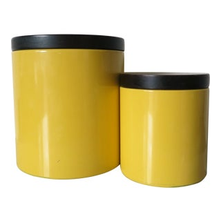 Vintage Mid-Century Ransburg Kitchen Canisters - A Pair For Sale