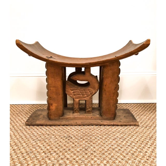 Wood 1950s Vintage Wood Carved Ashanti Stool For Sale - Image 7 of 7