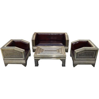 Handmade Moroccan Salon Suite, S/4 For Sale