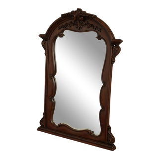 French Louis XV Style Cherry Finish Mirror For Sale