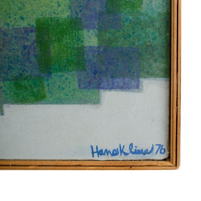 """1970s """"Double Landscape"""" Abstract Oil Painting by Hans Kline, Framed For Sale - Image 10 of 13"""